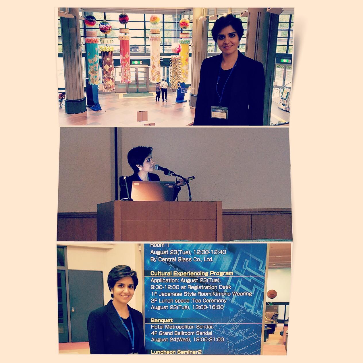 Dr. Esfandiari giving a talk at IEEE Nano