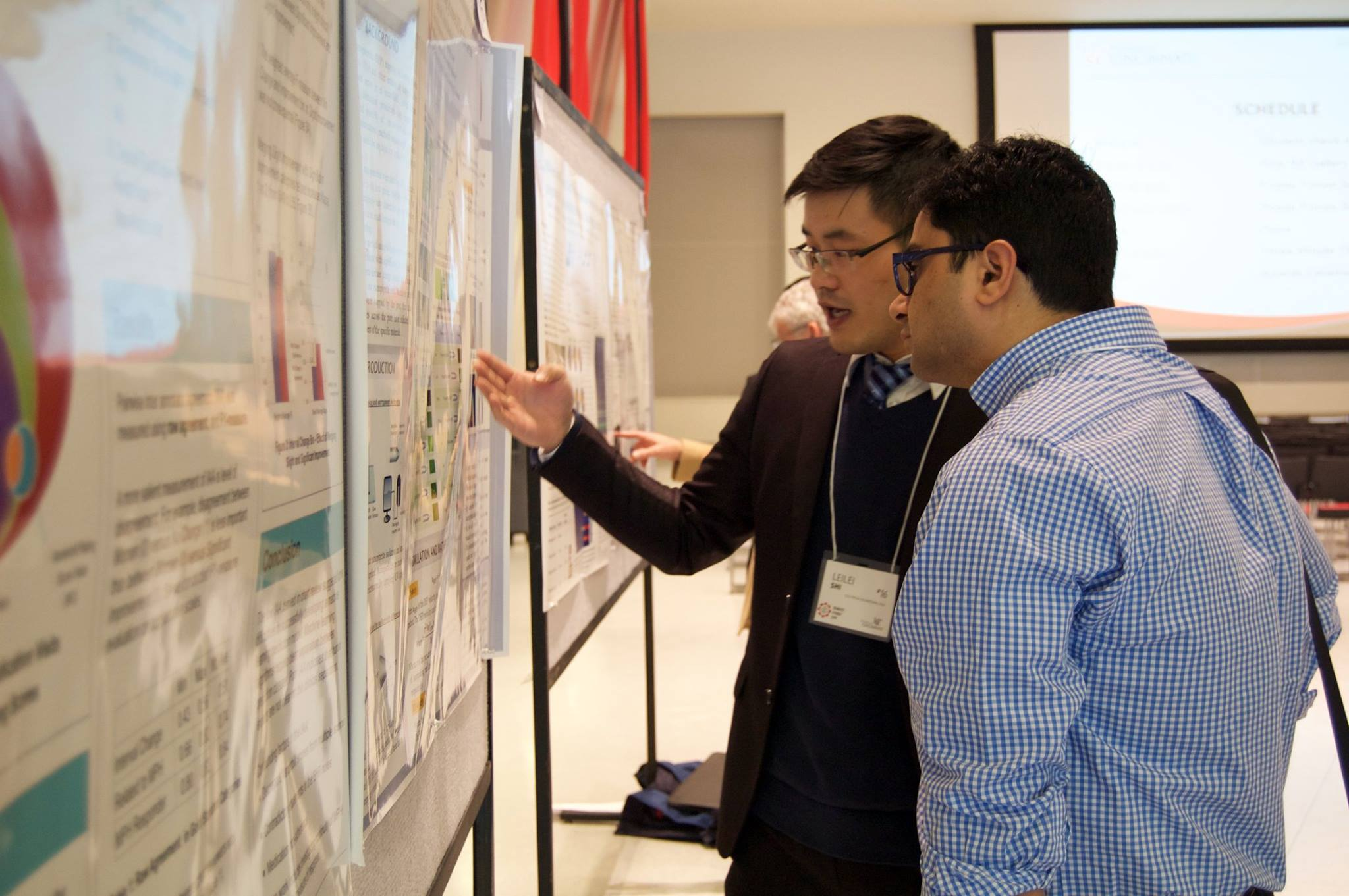 Leilei presenting his work at UC Graduate Student Expo