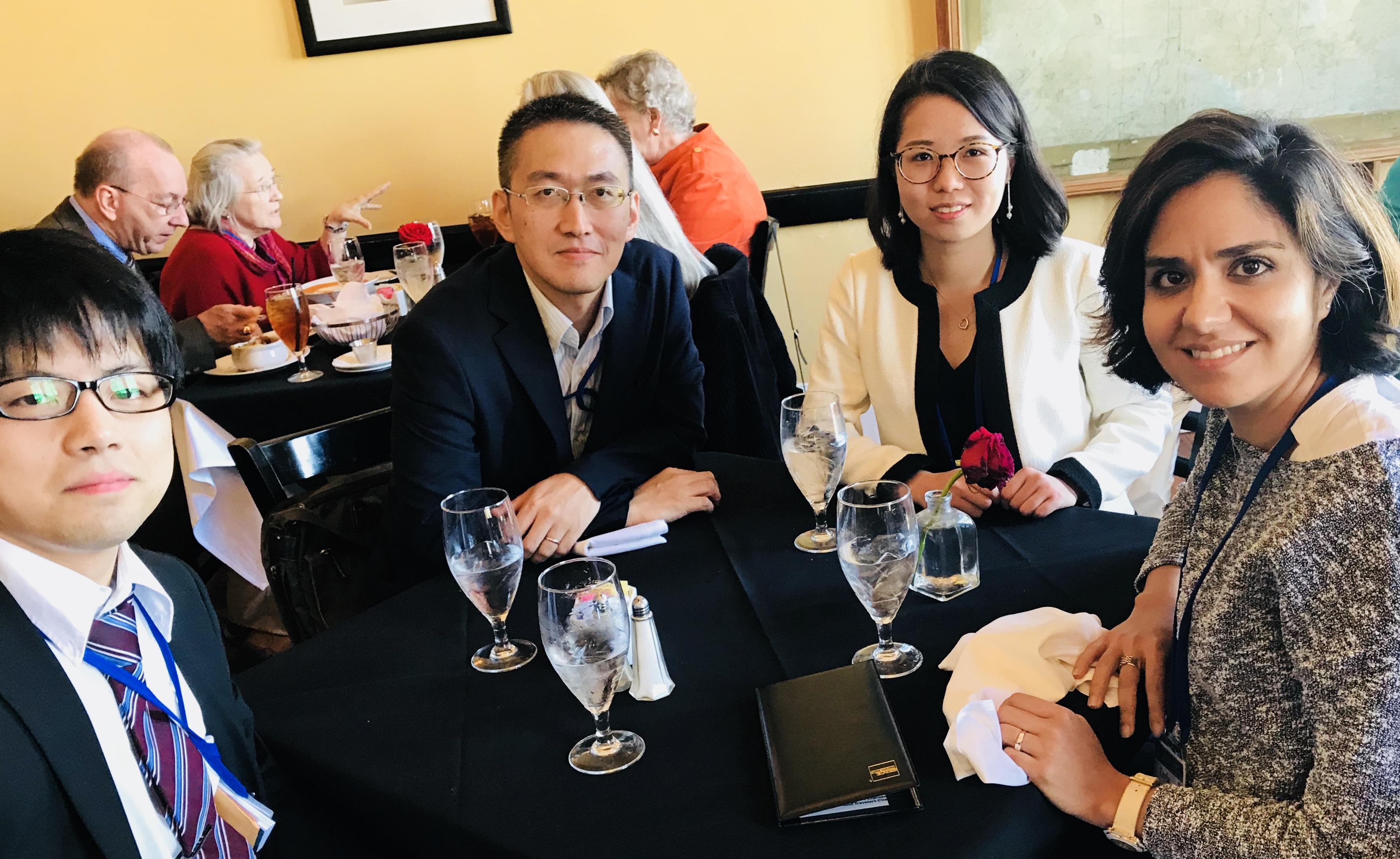 Meeting collaborators at MicroTAS meeting