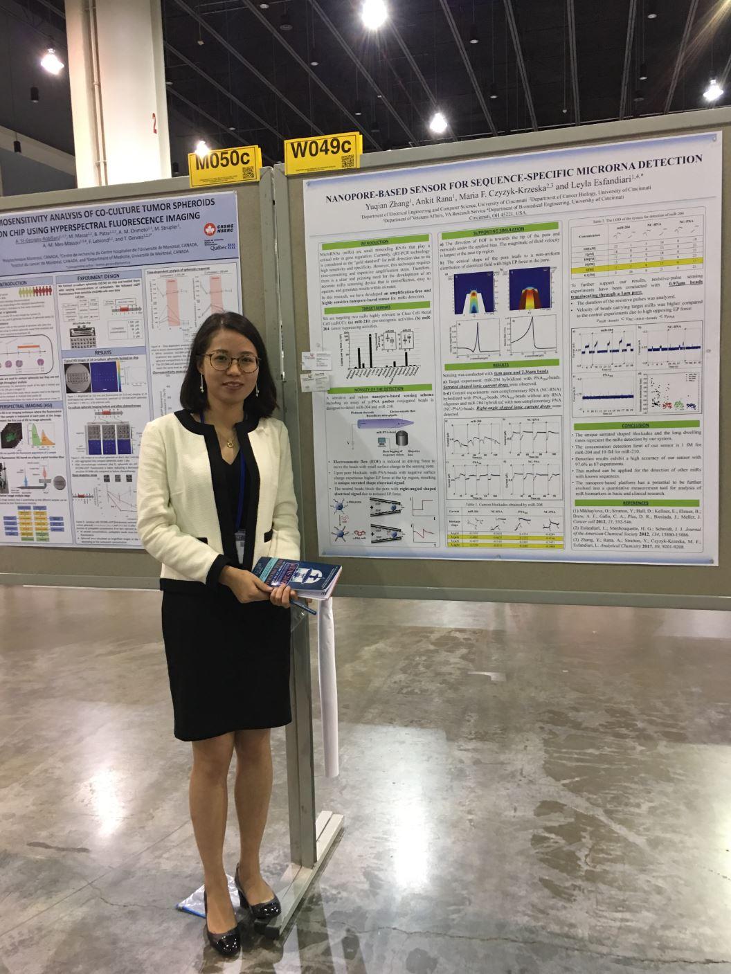 newYuqian presenting her work at MicroTAS meeting