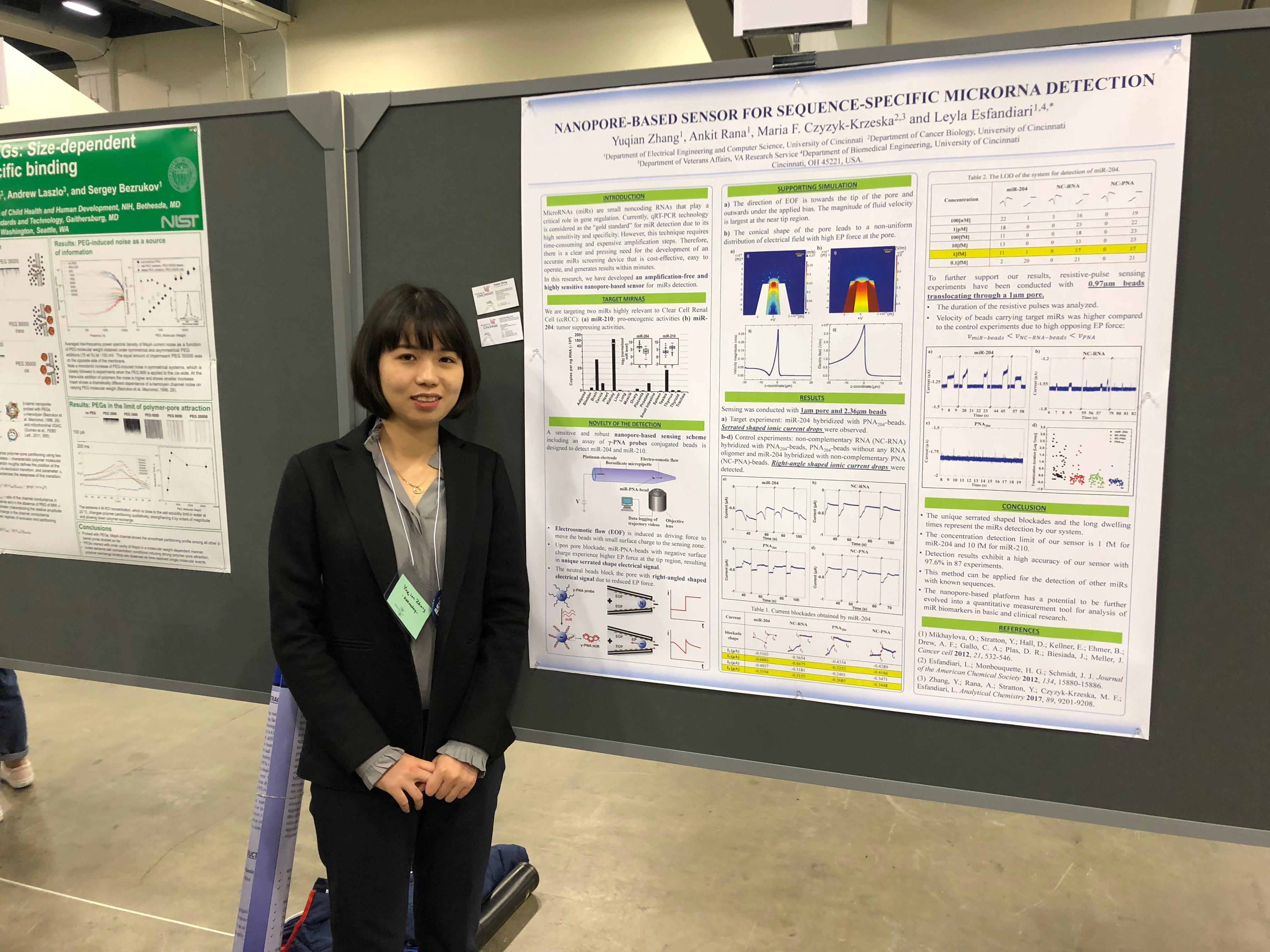 Yuqian presenting at Biophysical Society meeting