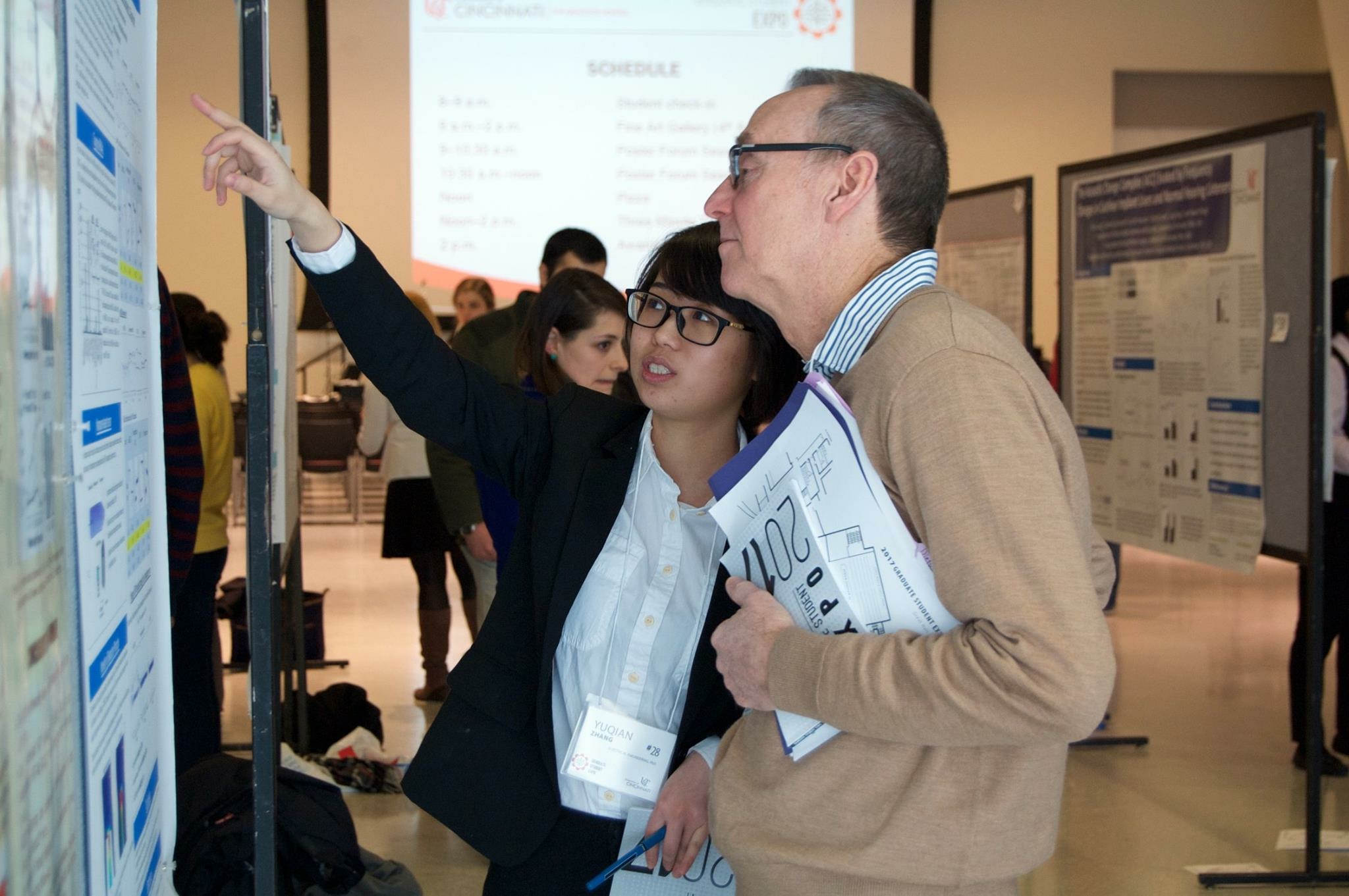 Yuqian presenting her work at Graduate Student Expo