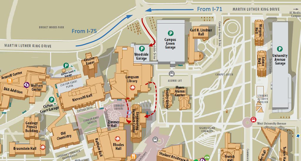 University Of Cincinnati Campus Map Directions — Integrative biosensing laboratory