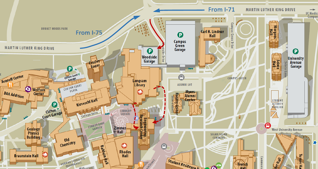 uc main campus map Multimedia Networking And Computing Laboratory Directions uc main campus map
